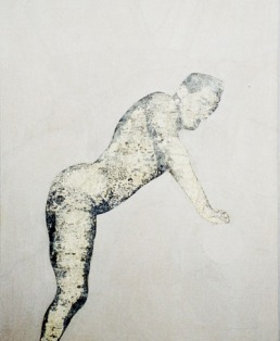 2004 'cloland' graphite and oil on gesso 16- x 130 cm