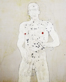 2004 'nablus superstar' mixed media on canvas 160 x 130 cm